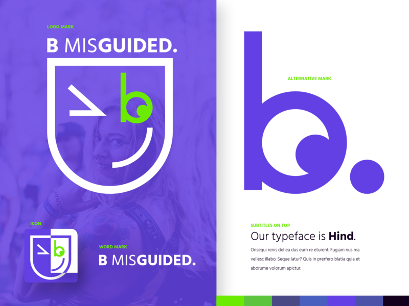 A quirky logo for a quirky company. identity design expression face logo winking wink face brand letter b b logo logo flat branding heurist minimal