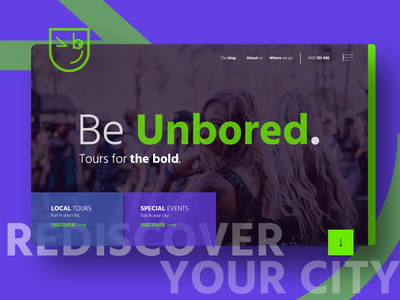 A quirky website for a quirky company ;) hero banner hero image hero section home page web design website tourist tours tourism headers header exploration header design ux ui flat branding design illustration heurist minimal