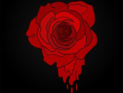 Red Rose Illustration flat illustration vector flat art logo design illustration