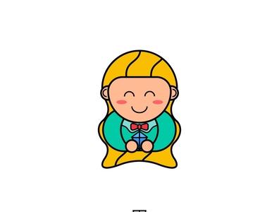Little Gem Logo Design mascot design mascot logo vector flat branding art logo design illustration