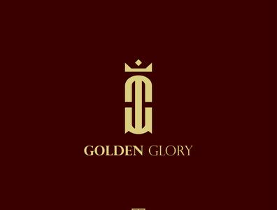 Golden Glory Monogram Logo monogram letter mark art branding logo design