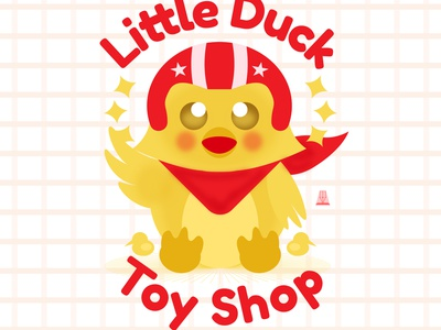 Little Duck duck toy store toy design mascot design mascot character vector branding logo art design illustration