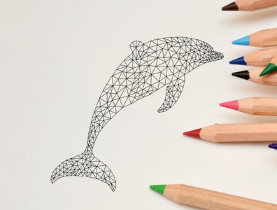 Dolphin Low Poly Art (On Progress)