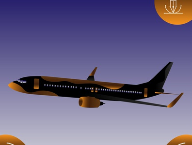 Boeing B737-800 NG Flat Illustration