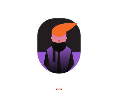 A man Avatar Illustration avatar design flat illustration vector flat branding art logo design illustration