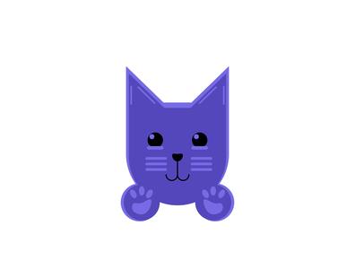 Kitten Logo Design icon flat illustration vector flat branding art logo design illustration
