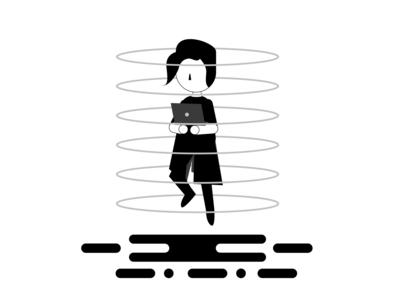 Explore Yourself flat illustration vector flat design illustration