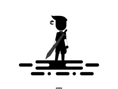 Main Hero Character flat illustration vector flat branding art logo design illustration