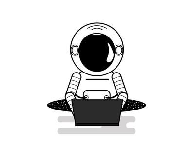 Astronaut Illustration flat illustration vector flat art logo design branding illustration