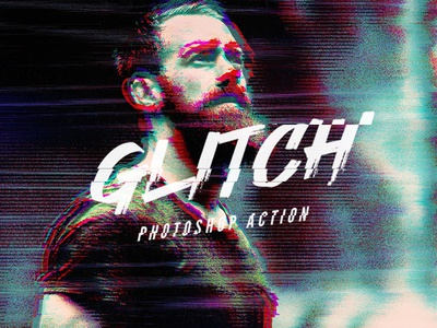 VHS Glitch Photoshop Action