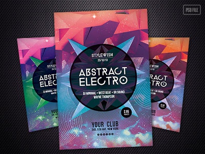 Abstract Electro Flyer By Stylewish  Dribbble