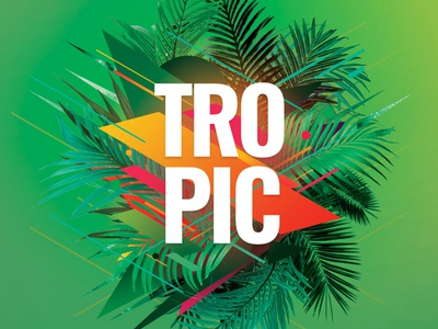 Tropic Flyer abstract shape green beach tropical flyer tropical summer design photoshop graphic design download graphicriver psd template poster flyer