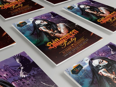Halloween Party Flyer graphicriver photoshop halloween bash halloween party halloween design creepy scary death evil poster halloween flyer haunted haunting witch dark spooky horror terror halloween