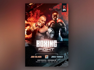 Boxing Flyer photoshop psd graphicriver championshipo sport wrestling wrestler match fighting kickboxing martial arts mma boxing flyer boxer flyer boxer template poster flyer