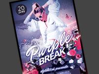 Purple Break Flyer