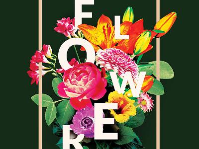 Flowers Flyer floral art floral design botanicals natural nature botanical bouquet indie alternative photoshop poster design flyer template flowers flower floral creativemarket psd template poster flyer