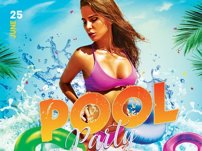 Pool Party Flyer pool party flyer pool party summer flyer beach summer splashing pool abstract design photoshop graphic design download graphicriver psd template poster flyer