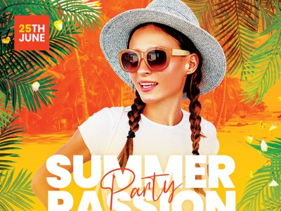Summer Passion Flyer design photoshop graphic design download graphicriver psd template flyer summertime poster summer flyer beach summer
