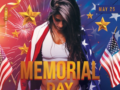 Memorial Day Flyer celebration labor day american america usa patriotic 4th of july fourth of july memorial day design photoshop graphic design download graphicriver psd template poster flyer