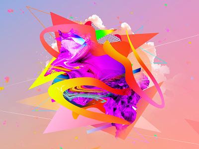 Future Shapes 3 crypto art photoshop art opensea clouds vivid colors colorful vivid futuristic future graphic design photoshop nfts nftart nft