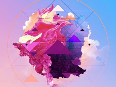 Future Shapes 4 color colorful clouds photoshop art psd design futuristic future abstract triangles crypto art nfts nft photoshop template psd photoshop