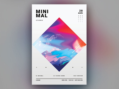 Minimal Flyer modern envato minimalistic minimal design graphic design download psd graphicriver template poster flyer