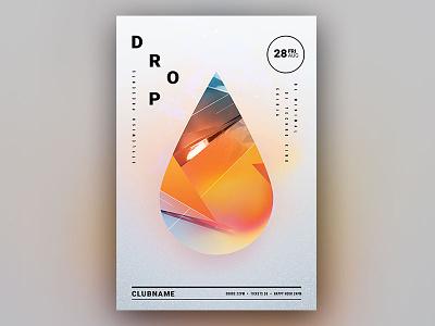 Drop Flyer poster design flyer template envato minimalistic clean minimal graphic design download graphicriver psd template design poster flyer drop