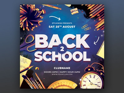 Back to School Flyer design graphic design download graphicriver psd template resources education school college back 2 school party back 2 school back to school party back to school flyer back to school poster flyer