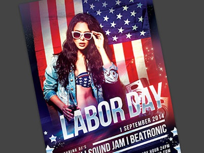 Superb Labor Day Flyer Template. Download PSD File