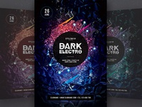 Dark Electro Flyer Template