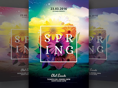 Spring Party Flyer Template By Stylewish  Dribbble