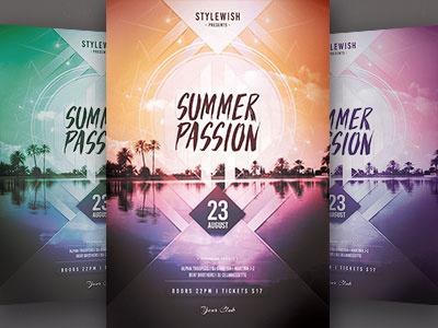 Summer Flyer template psd summer flyer beach flyer ocean sea sunshine poster flyer graphicriver beach summer