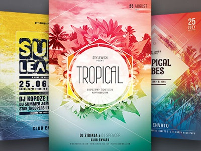 tropical flyer bundle by stylewish dribbble dribbble