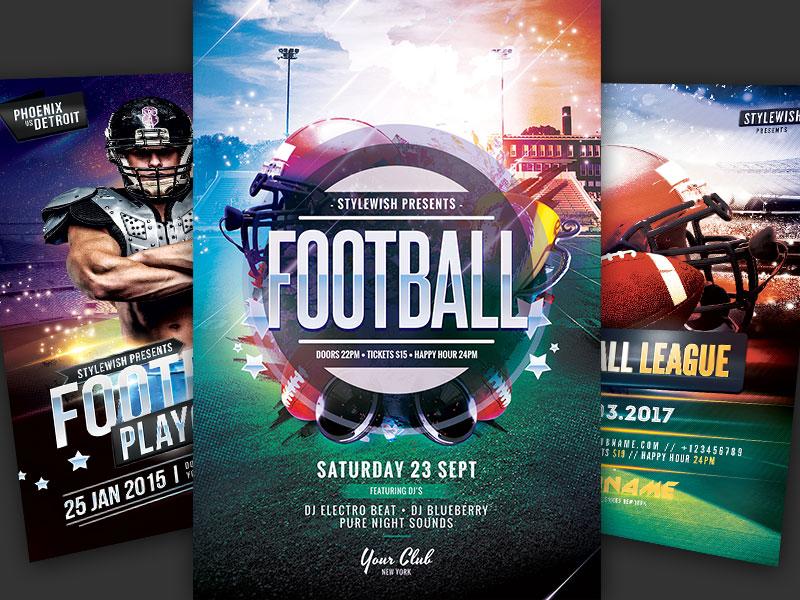 American Football Flyer Bundle By Stylewish Dribbble