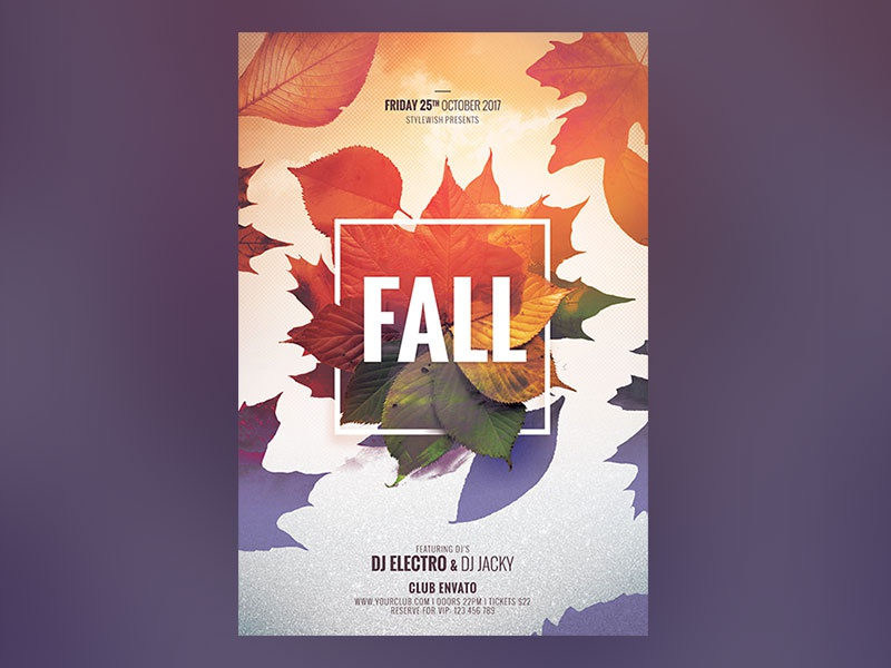fall flyer by stylewish dribbble dribbble
