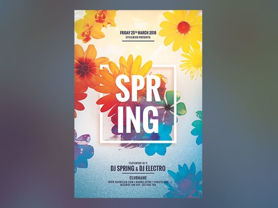 Spring Flyer By Stylewish Dribbble