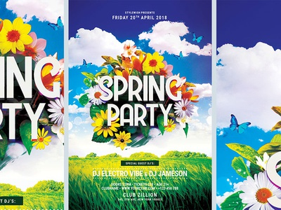 Spring Party Flyer By Stylewish  Dribbble