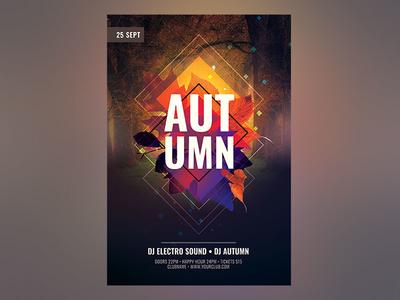 Autumn Flyer design download photoshop autumn flyer autumn party fall party fall poster flyer autumn