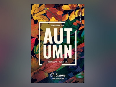 Autumn Flyer template download alternative autumn party modern event leaves photoshop psd fall flyer autumn flyer fall flyer autumn