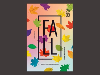 Fall Flyer colorful logo colorful graphicriver psd download photoshop brush psd file leaf leaves psd photoshop autumn flyer fall flyer autumn party autumn fall poster flyer