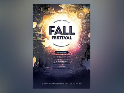 Fall Festival Flyer design light download graphic design graphicriver template psd photoshop autumn flyer autumn party autumn poster flyer fall