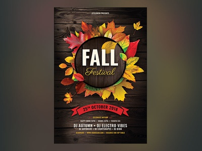 Fall Festival Flyer psd file autumn party autumn flyer autumn design graphic design download photoshop flyer poster template graphicriver psd party fall flyer fall party fall