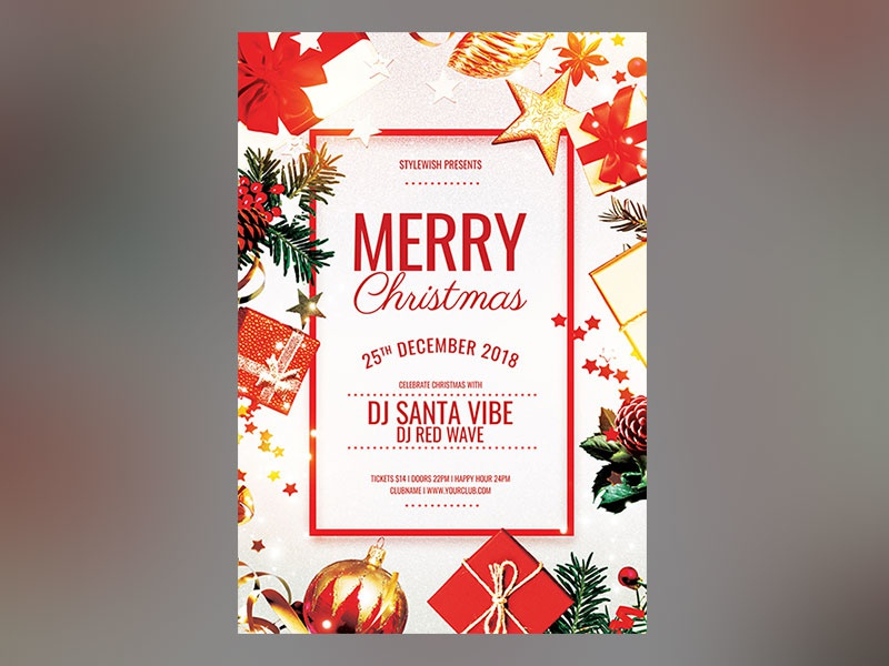 merry christmas flyer by stylewish dribbble dribbble