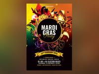 Mardi Gras Party Flyer