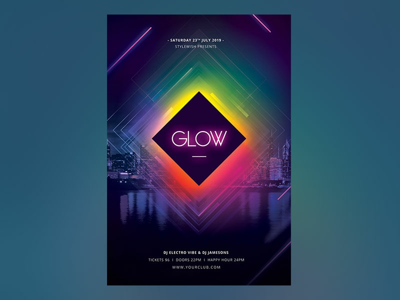 Glow Flyer by styleWish on Dribbble