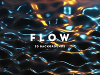 Flow - 25 Liquid 3D Backgrounds