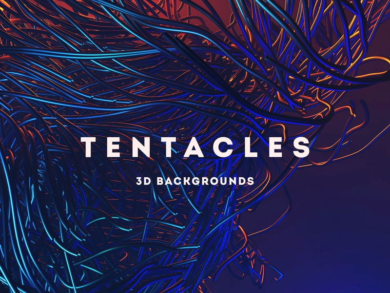 Tentacles - 15 Futuristic 3D Backgrounds design download creativemarket background design dark futuristic future tentacle tentacles backgrounds texture background