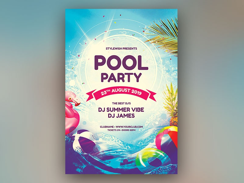 Pool Party Flyer graphicriver download photoshop psd pool flyer pool party pool design poster flyer summer flyer summer