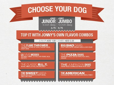 Hot Dog Menu Graphic