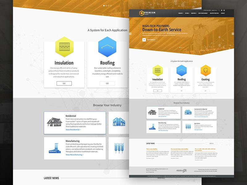 Spray Foam Insulation Website by Thomas Brown | Dribbble | Dribbble